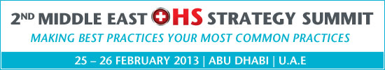 2nd Middle East OHS Strategy Summit 2013